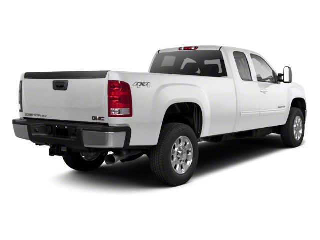 Summit White 2011 GMC Sierra 2500HD Pictures Sierra 2500HD Extended Cab SLE 4WD photos rear view