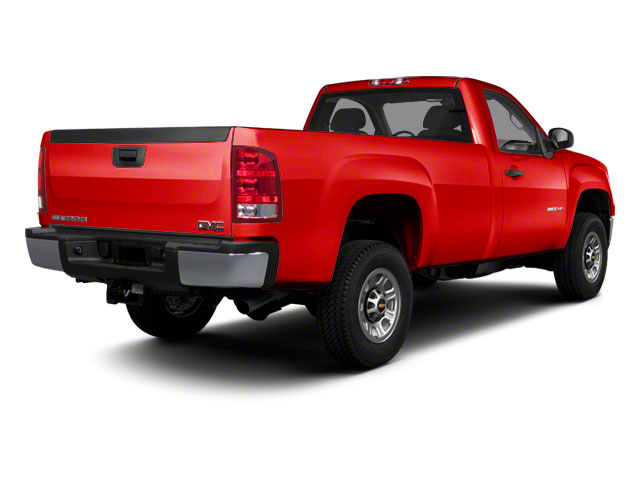 Fire Red 2011 GMC Sierra 3500HD Pictures Sierra 3500HD Regular Cab SLE 2WD photos rear view