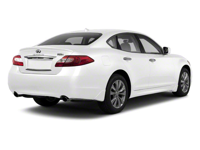 Moonlight White 2011 INFINITI M37 Pictures M37 Sedan 4D photos rear view
