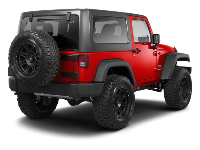 Flame Red 2011 Jeep Wrangler Pictures Wrangler Utility 2D Rubicon 4WD photos rear view