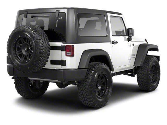 Bright White Clear Coat 2011 Jeep Wrangler Pictures Wrangler Utility 2D Rubicon 4WD photos rear view