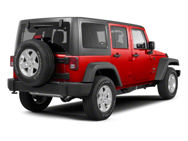 Flame Red Clear Coat 2011 Jeep Wrangler Unlimited Pictures Wrangler Unlimited Utility 4D Unlimited Sport 4WD photos rear view