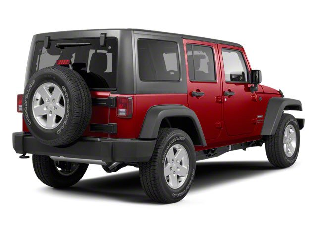 Deep Cherry Red Crystal Pearl Coat 2011 Jeep Wrangler Unlimited Pictures Wrangler Unlimited Utility 4D Unlimited Sahara 4WD photos rear view
