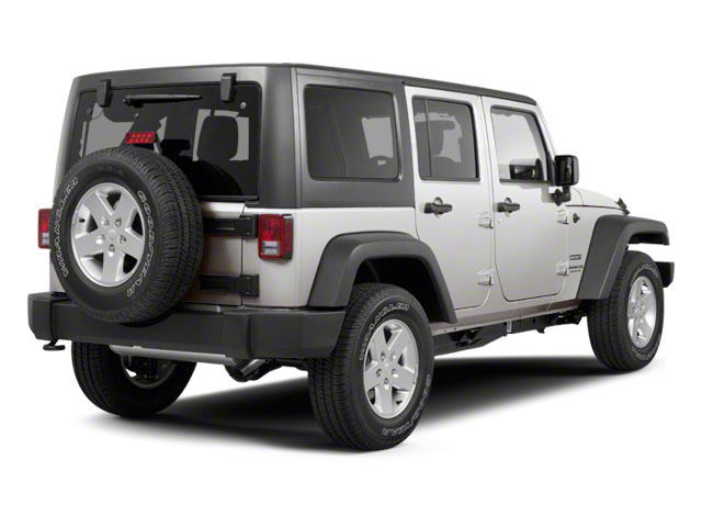 Bright Silver Metallic 2011 Jeep Wrangler Unlimited Pictures Wrangler Unlimited Utility 4D Unlimited Sahara 4WD photos rear view