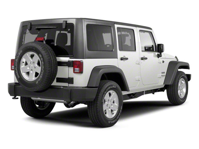 Bright White Clear Coat 2011 Jeep Wrangler Unlimited Pictures Wrangler Unlimited Utility 4D Unlimited Sport 4WD photos rear view