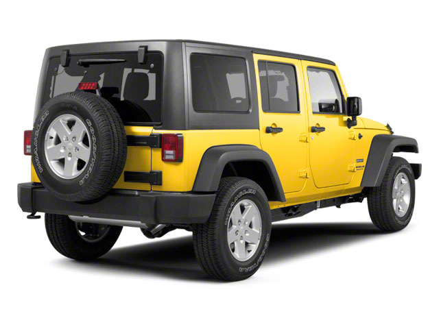 Detonator Yellow Clear Coat 2011 Jeep Wrangler Unlimited Pictures Wrangler Unlimited Utility 4D Unlimited Sport 4WD photos rear view