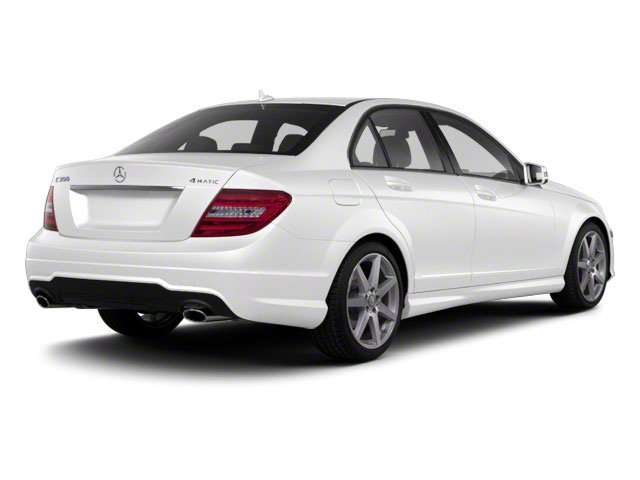 Arctic White 2011 Mercedes-Benz C-Class Pictures C-Class Sport Sedan 4D C350 photos rear view