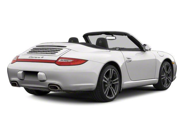 Platinum Silver Metallic 2011 Porsche 911 Pictures 911 Cabriolet 2D photos rear view