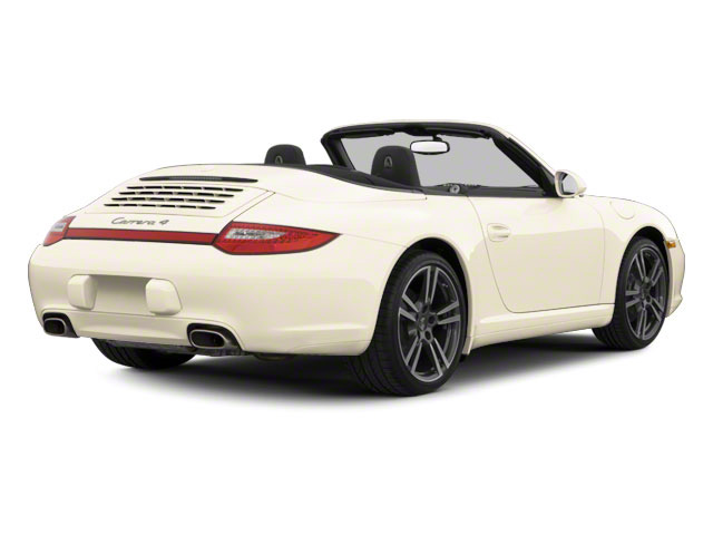 Cream White 2011 Porsche 911 Pictures 911 Cabriolet 2D photos rear view