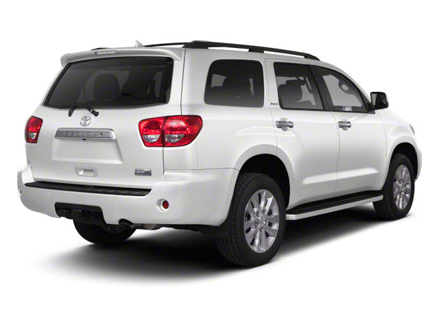 Super White 2011 Toyota Sequoia Pictures Sequoia Utility 4D Limited 4WD photos rear view