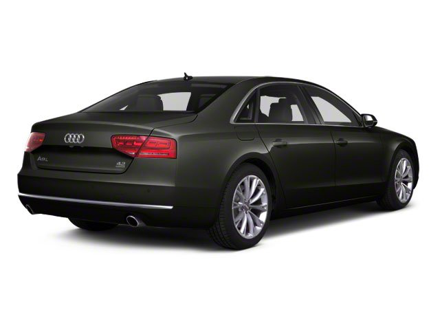 Havanna Black Metallic 2012 Audi A8 L Pictures A8 L Sedan 4D 4.2 Quattro L photos rear view