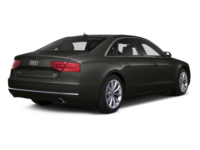Oolong Grey Metallic 2012 Audi A8 L Pictures A8 L Sedan 4D 4.2 Quattro L photos rear view