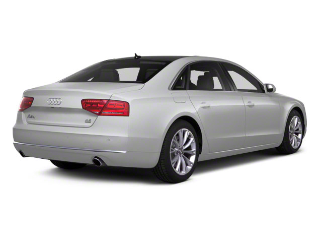 Ice Silver Metallic 2012 Audi A8 L Pictures A8 L Sedan 4D 4.2 Quattro L photos rear view