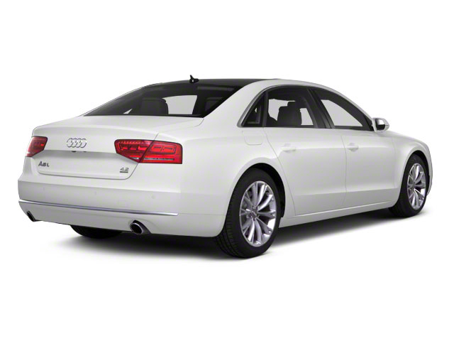 Ibis White 2012 Audi A8 L Pictures A8 L Sedan 4D 4.2 Quattro L photos rear view