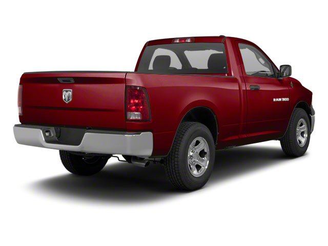 Deep Cherry Red Crystal Pearl 2012 Ram Truck 1500 Pictures 1500 Regular Cab Tradesman 4WD photos rear view