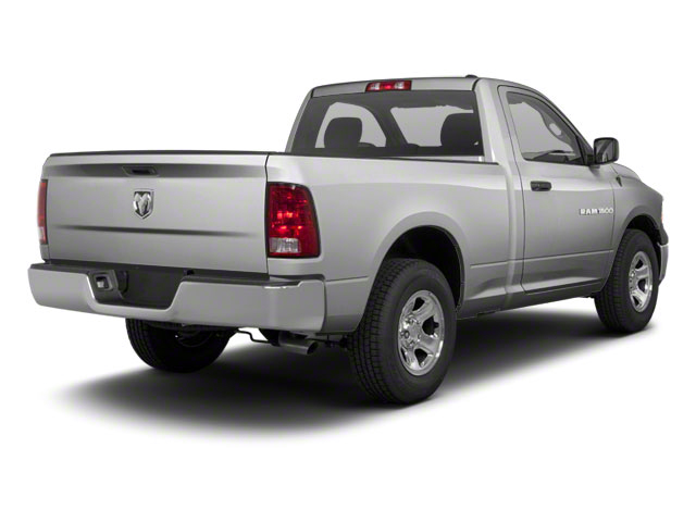 Bright Silver Metallic 2012 Ram Truck 1500 Pictures 1500 Regular Cab SLT 2WD photos rear view