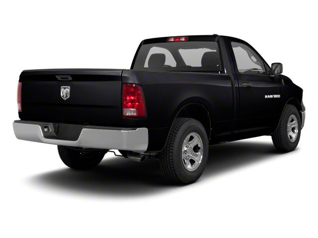 Black 2012 Ram Truck 1500 Pictures 1500 Regular Cab SLT 2WD photos rear view