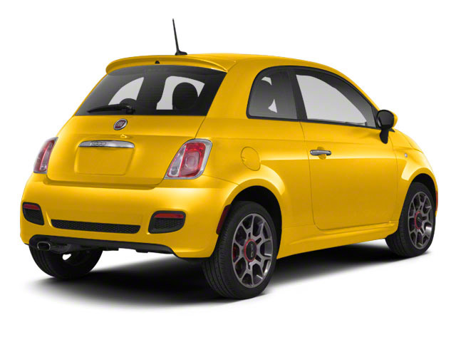 Giallo (Yellow) 2012 FIAT 500 Pictures 500 Hatchback 3D Sport photos rear view