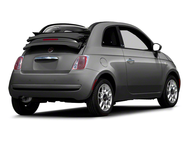 Argento (Silver) 2012 FIAT 500 Pictures 500 Convertible 2D Lounge photos rear view