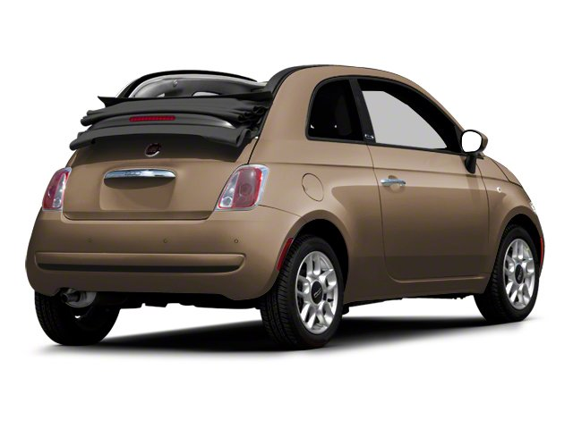 Mocha Latte 2012 FIAT 500 Pictures 500 Convertible 2D Lounge photos rear view