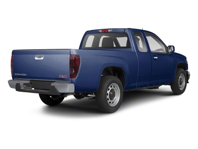 Navy Blue 2012 GMC Canyon Pictures Canyon Extended Cab SLE photos rear view