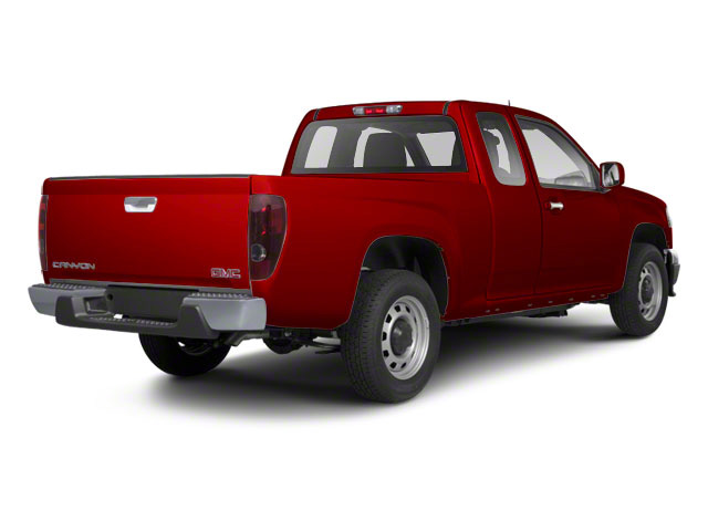 Fire Red 2012 GMC Canyon Pictures Canyon Extended Cab SLE photos rear view