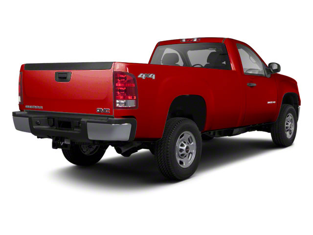 Fire Red 2012 GMC Sierra 2500HD Pictures Sierra 2500HD Regular Cab SLE 2WD photos rear view