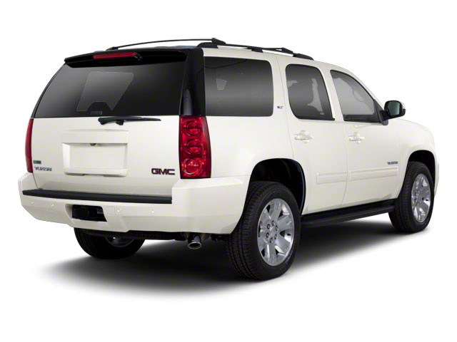 White Diamond Tricoat 2012 GMC Yukon Pictures Yukon Utility 4D SLT 4WD photos rear view
