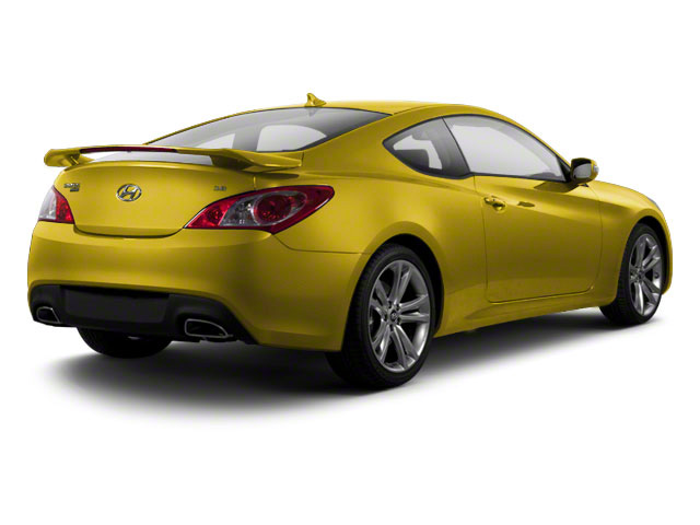 Interlagos Yellow 2012 Hyundai Genesis Coupe Pictures Genesis Coupe 2D Track photos rear view