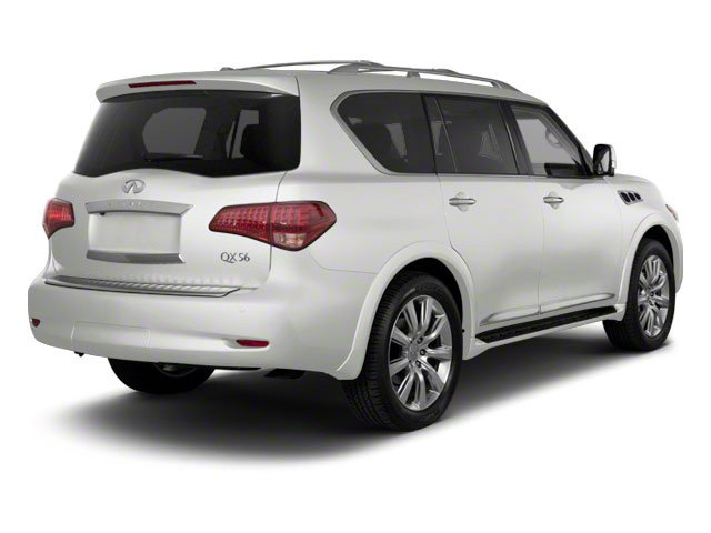 Moonlight White 2012 INFINITI QX56 Pictures QX56 Utility 4D 4WD photos rear view