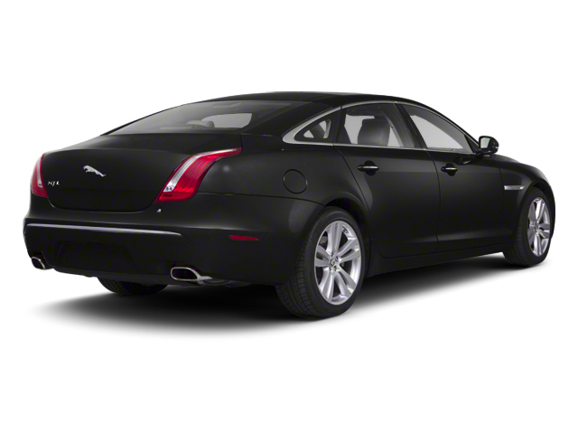 Midnight Black 2012 Jaguar XJ Pictures XJ Sedan 4D photos rear view