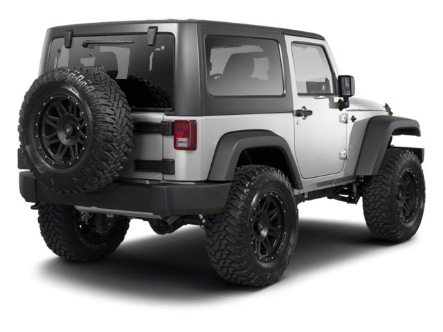 Bright Silver Metallic 2012 Jeep Wrangler Pictures Wrangler Utility 2D Sport 4WD photos rear view
