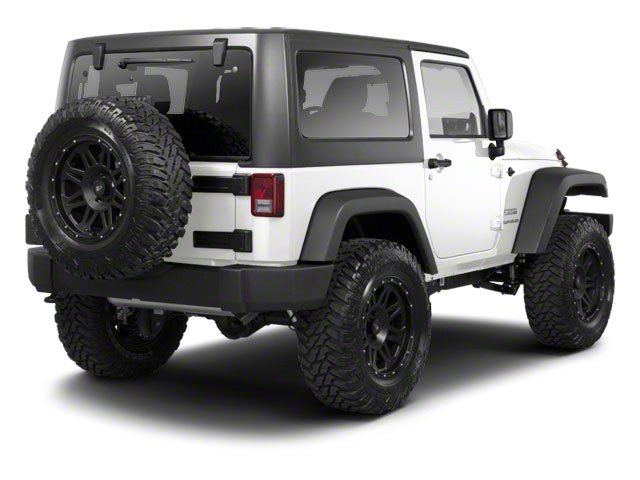 Bright White 2012 Jeep Wrangler Pictures Wrangler Utility 2D Sport 4WD photos rear view