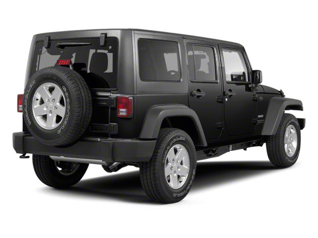 Black 2012 Jeep Wrangler Unlimited Pictures Wrangler Unlimited Utility 4D Unlimited Altitude 4WD V6 photos rear view