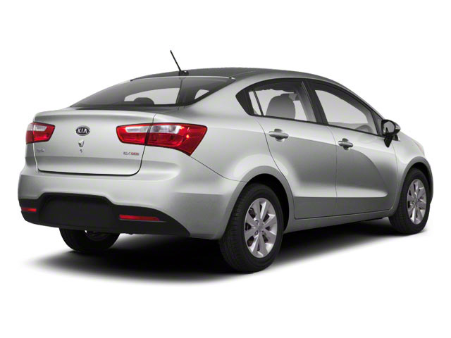 Bright Silver 2012 Kia Rio Pictures Rio Sedan 4D LX photos rear view