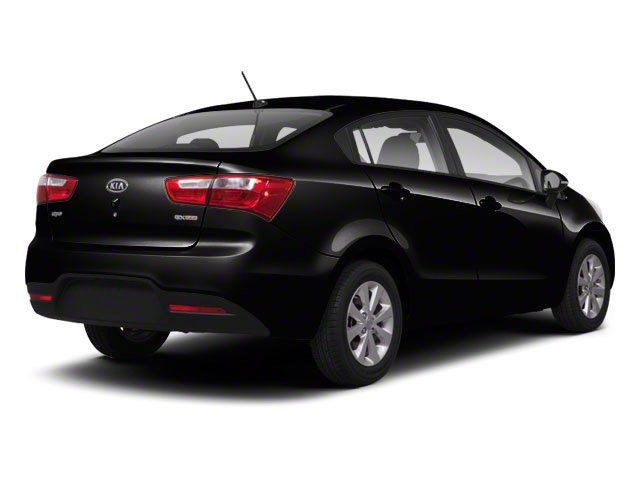 Midnight Black 2012 Kia Rio Pictures Rio Sedan 4D LX photos rear view