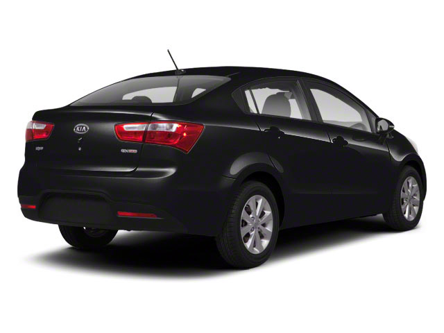 Aurora Black Pearl 2012 Kia Rio Pictures Rio Sedan 4D LX photos rear view