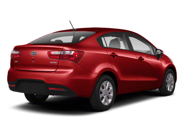 Signal Red 2012 Kia Rio Pictures Rio Sedan 4D LX photos rear view