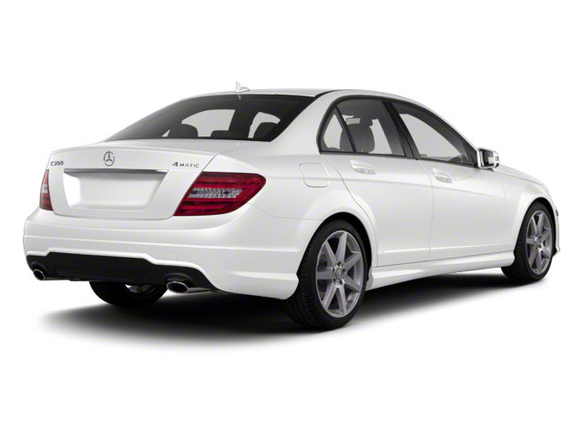 Arctic White 2012 Mercedes-Benz C-Class Pictures C-Class Sedan 4D C63 AMG photos rear view