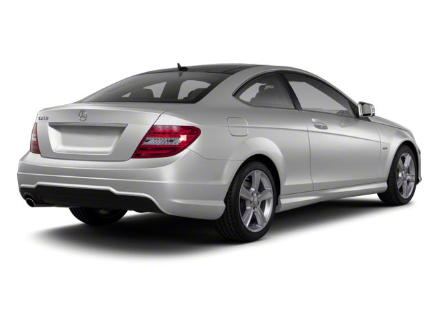 Iridium Silver Metallic 2012 Mercedes-Benz C-Class Pictures C-Class Coupe 2D C63 AMG photos rear view