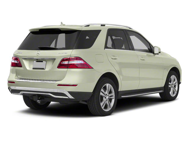 Arctic White 2012 Mercedes-Benz M-Class Pictures M-Class Utility 4D ML350 BlueTEC AWD photos rear view