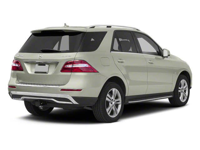 Iridium Silver Metallic 2012 Mercedes-Benz M-Class Pictures M-Class Utility 4D ML350 BlueTEC AWD photos rear view