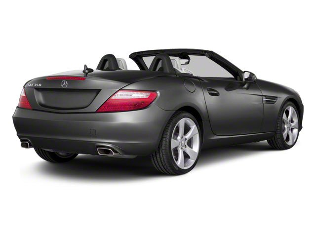Steel Grey Metallic 2012 Mercedes-Benz SLK-Class Pictures SLK-Class Roadster 2D SLK350 photos rear view
