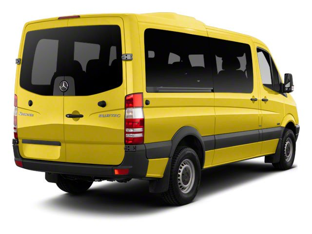 Calcite Yellow 2012 Mercedes-Benz Sprinter Passenger Vans Pictures Sprinter Passenger Vans Passenger Van High Roof photos rear view