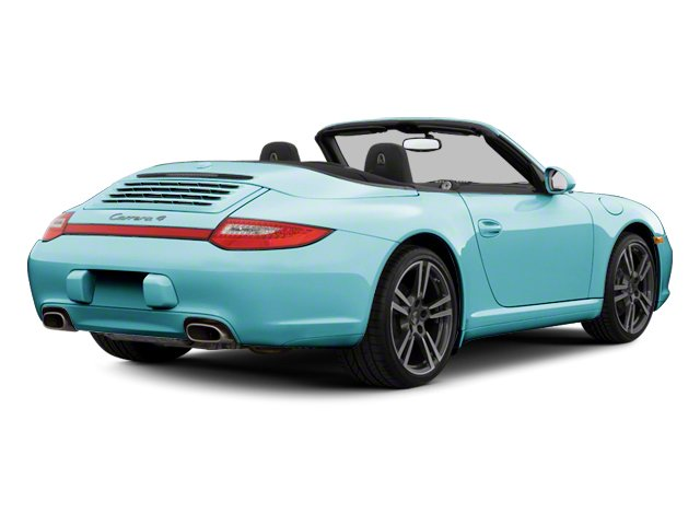 Ipanema Blue Metallic 2012 Porsche 911 Pictures 911 Cabriolet 2D Turbo AWD photos rear view