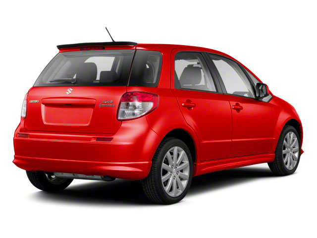 Crimson Red Metallic 2012 Suzuki SX4 Pictures SX4 Hatchback 5D AWD photos rear view