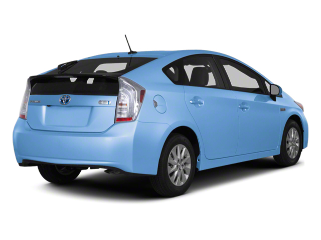 Clear Water Blue Metallic 2012 Toyota Prius Plug-In Pictures Prius Plug-In Liftback 5D Plug-In Advanced Hybrid photos rear view