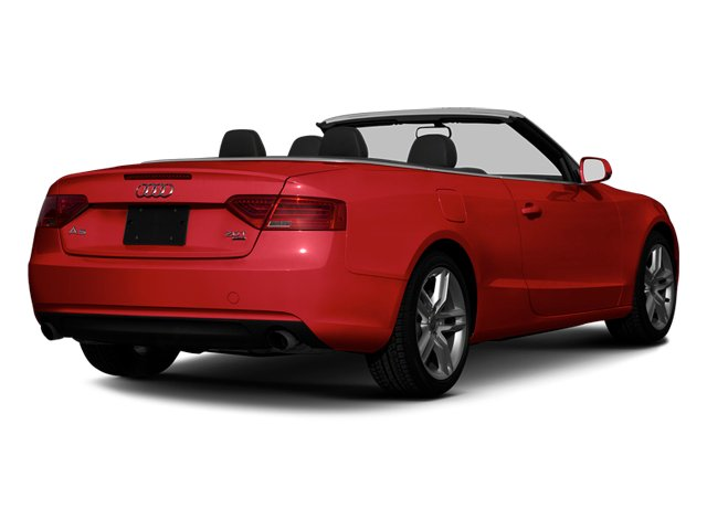 Brilliant Red 2013 Audi A5 Pictures A5 Convertible 2D Prestige 2WD photos rear view