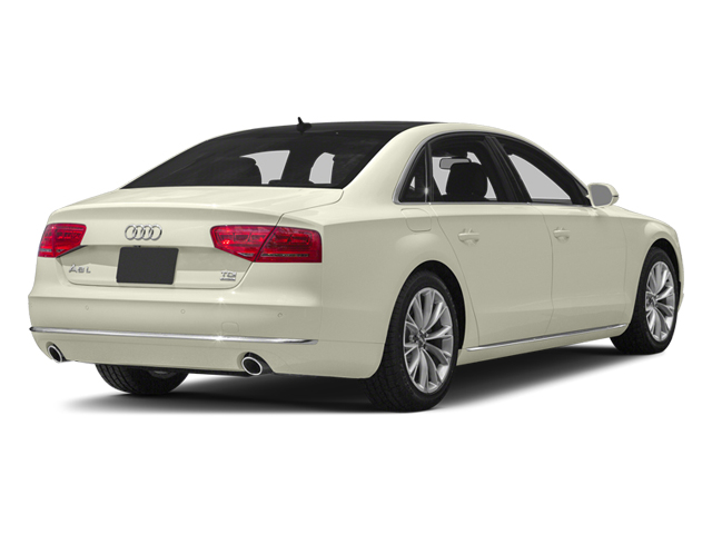 Glacier White Metallic 2013 Audi A8 L Pictures A8 L Sedan 4D 3.0T L AWD V6 Turbo photos rear view