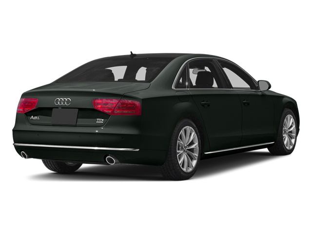 Emerald Black Metallic 2013 Audi A8 L Pictures A8 L Sedan 4D 3.0T L AWD V6 Turbo photos rear view